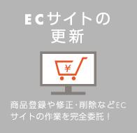 ECサイトの更新-商品登録や修正・削除などECサイトの作業を完全委託